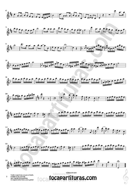 2  Clarinete Partitura de Czardas Sheet Music for Clarinet Music Score