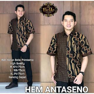 Batik Kemeja Batik Lengan Pendek Antaseno