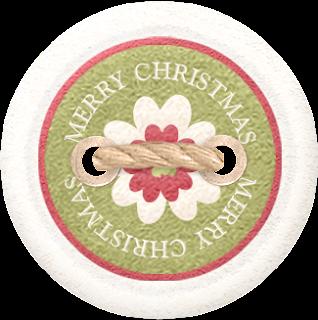 Lazos y Botones Clipart Tierna Navidad.