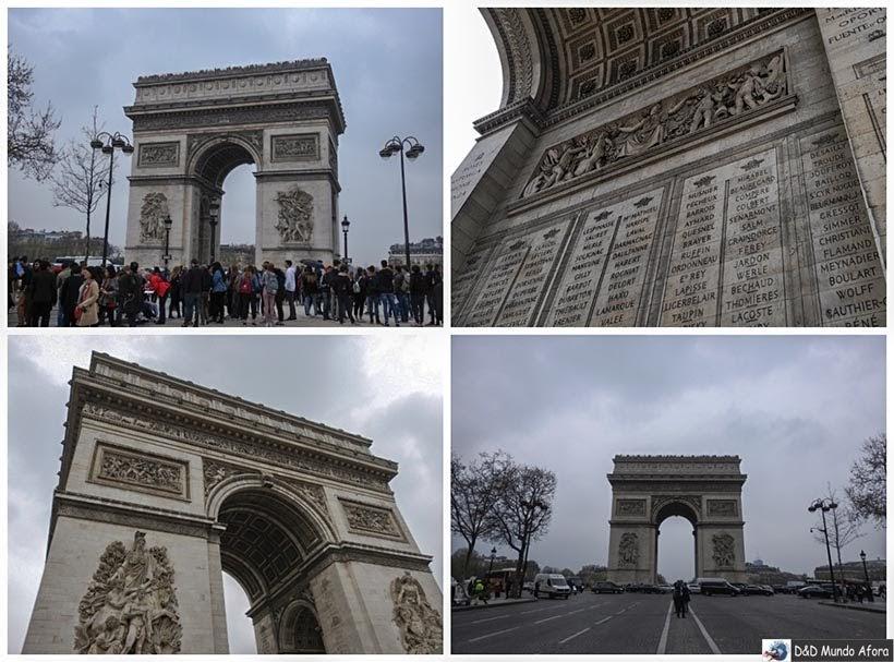 Arco do Triunfo - Diário de Bordo - 3 dias em Paris