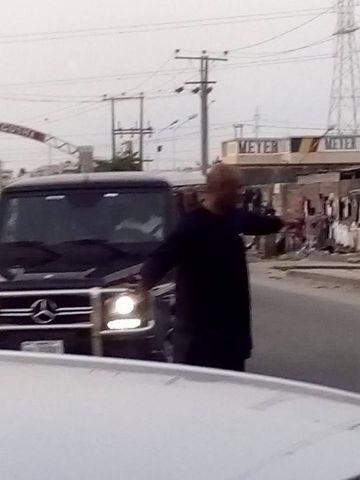 Pastor Paul Adefarasin of House On The Rock controlling traffic