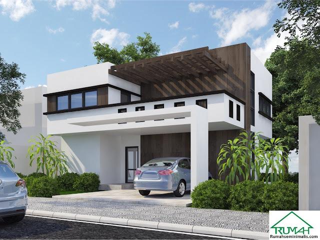 Denah Model Desain Gambar Rumah Minimalis Idaman Modern