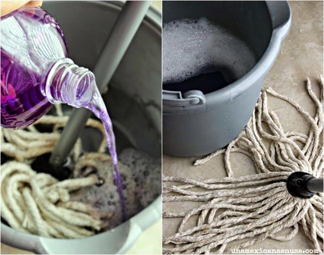 Vase pintada para la cocina inspirada en el aroma de Lavanda de Fabuloso®  by www.unamexicanaenusa.com