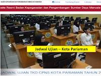 Jadwal dan Nama Peserta UJIAN CAT CPNS 2018 - Kota Pariaman, Download Disini !!!