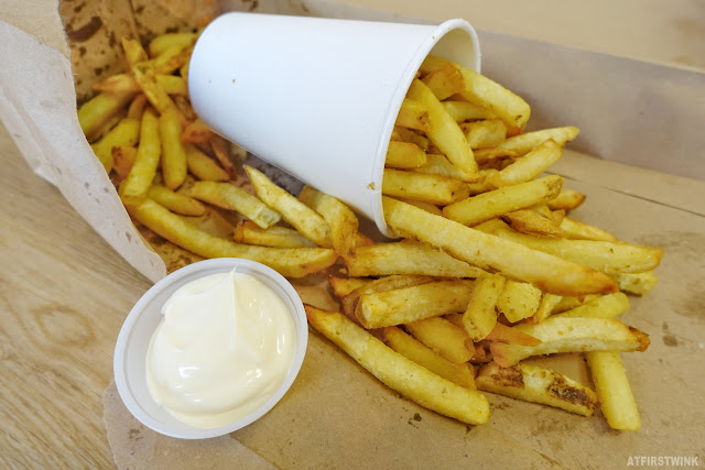 Five Guys Rotterdam city centre fries regular crunchy mayonnaise