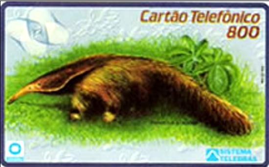 Cartão telefônico - Telerj - Tamanduá Bandeira