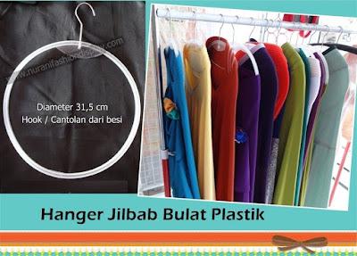 Hanger Jilbab Bulat Plastik