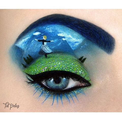 07-The-Sound-of-Music-Julie-Andrews-Tal-Peleg-Body-Painting-and-Eye-Make-Up-Art-www-designstack-co