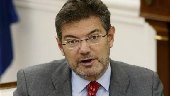 El ministro de Justicia, Rafael Catalá, en una comparecencia pública EFE