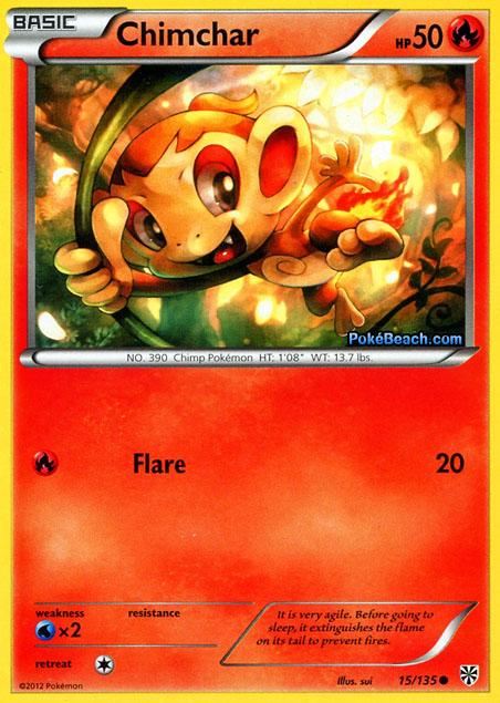 Chimchar -- Plasma Storm Pokemon Card Review ...