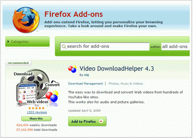 By using this tool You can Download videos with Video downloadhelper tool f