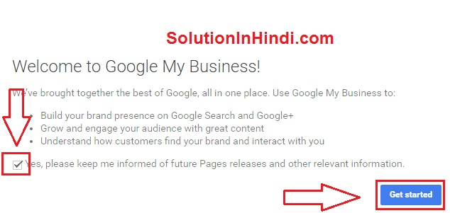 google plus account banane ke liye get started me click kare