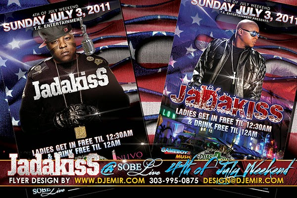 Jadakiss 4th Of July Independence Day Weekend Concert at Sobe Live South Beach Florida Flyer Design