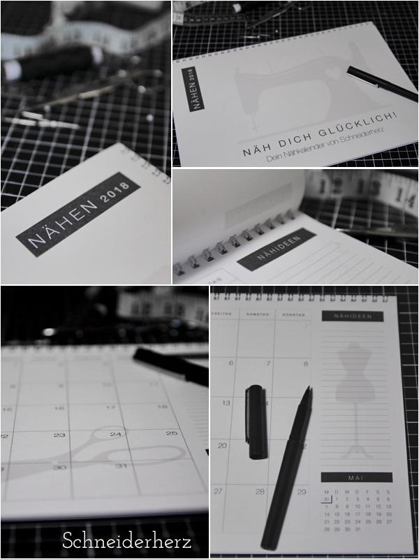 Näh-Kalender Druckvorlage Gratis A4