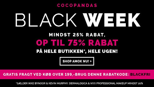 Cocopanda Black Week - up to 25-75% sale + Free Shipping!