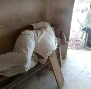 Man Supporting His Belly With A Plank While Sleeping