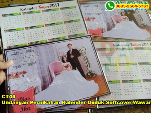 Toko Undangan Pernikahan Kalender Duduk Softcover Wawan Dan Wulan