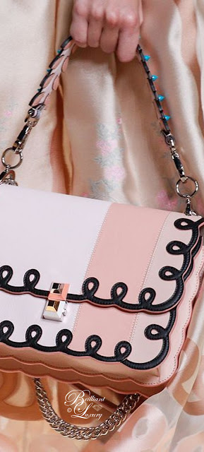 Brilliant Luxury ♦ Fendi Flap Bag in Pink-Black
