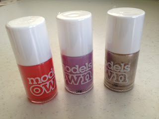Models Own Nail Polish Review:  'Coral Reef', 'Lilac Dream' & 'Champagne'
