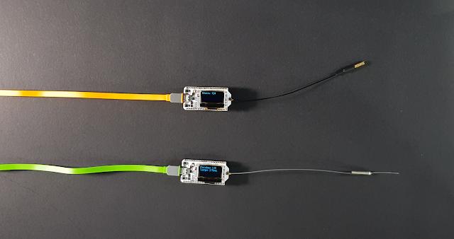 Na nossa montagem temos os dois chips trocando informações