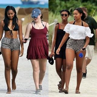 Too S*xy! U.S President's Daughter, Sasha Obama Flaunts Bikini Hot Body at the Beach in Miami (Photos)