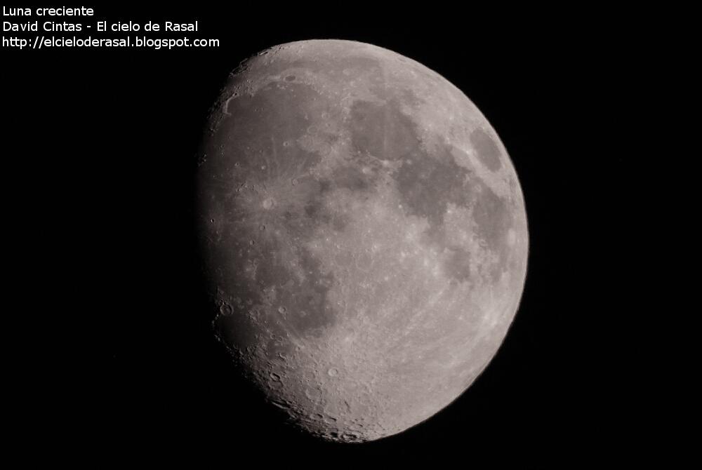 Luna creciente - El cielo de Rasal