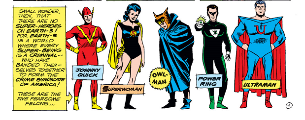 panel from Justice League of America #29 (1964). Property of DC comics.