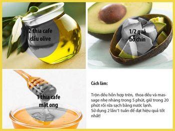 mặt nạ dầu oliu và bơ chống lão hóa