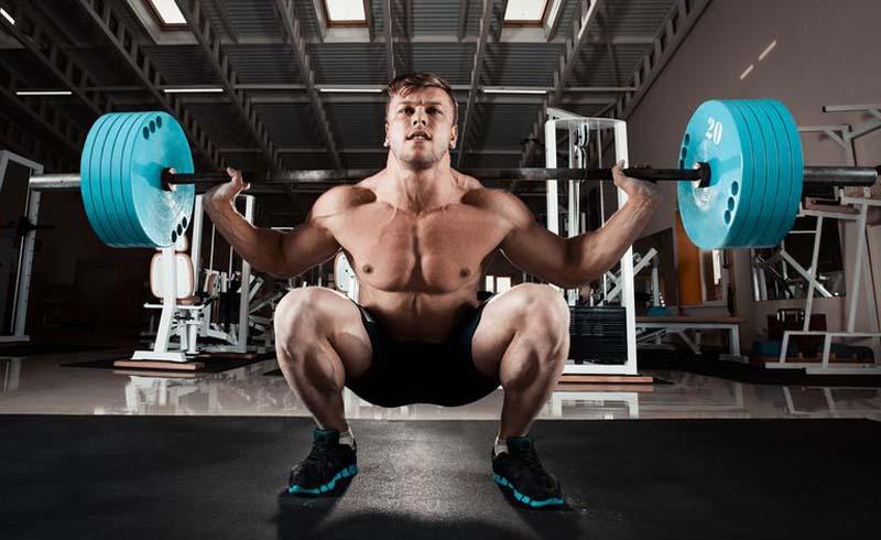 Squat, Front squat, back squat, front squat form, front squat vs. back squat, barbell, barbell squat, lower body exercises