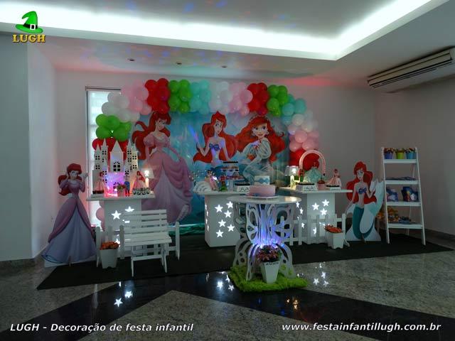 Decoração Princesa Ariel para festa infantil - Aniversário feminino - Jacarepaguá-RJ