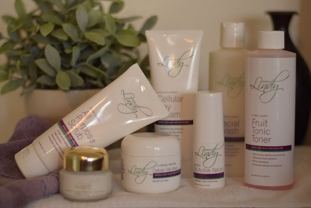 The entire Naturally Lindy Line of Skin Care