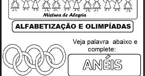 Atividades Sobre Jogos Olimpicos 2016 E Alfabetizacao Imprimir E