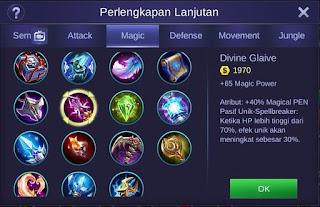Divine Glaive Mobile Legends Bang Bang