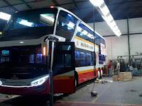 PO Harapan Jaya Luncurkan Bus Dua lantai Pertama Di Tulungagung