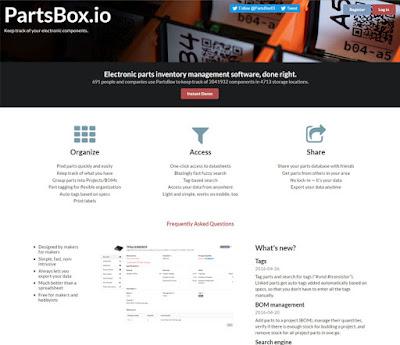 software de gestión de inventario de piezas de electrónica (partsbox.io)