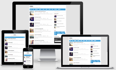 Vikka Fast Loading and Responsive Blogger Templates Free Download