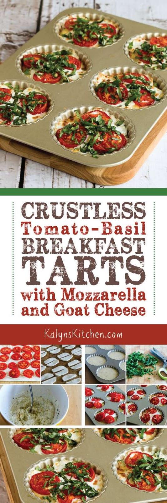... Crustless Tomato-Basil Breakfast Tarts with Mozzarella and Goat Cheese