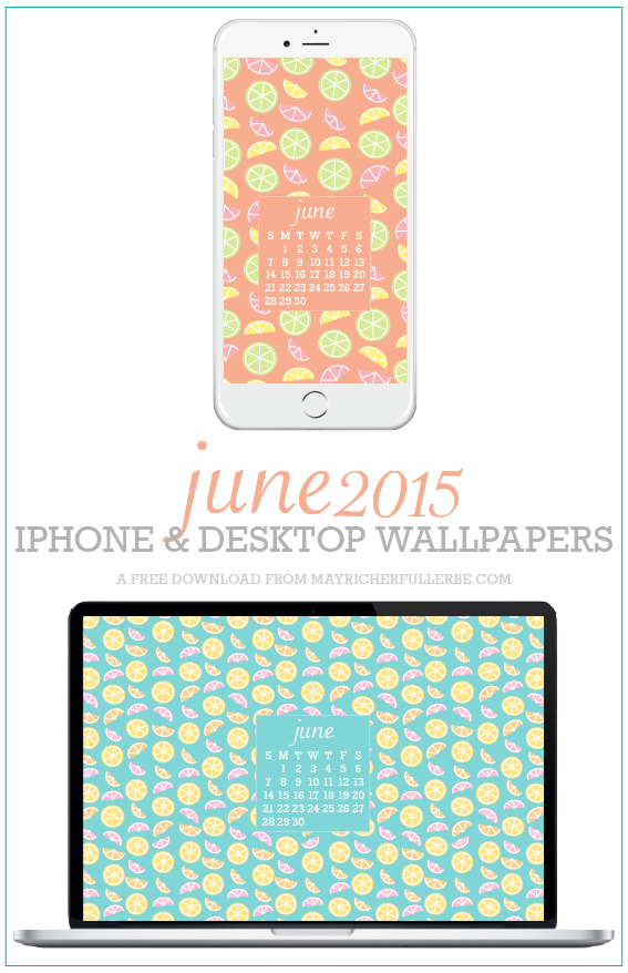 June 2015 iPhone + Desktop Wallpapers {Citrus}