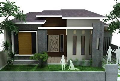 Contoh Gambar Desain Rumah Minimalis 1 Lantai Type 45