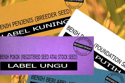 Arti Keempat Warna Label Benih Padi Bersertifikat