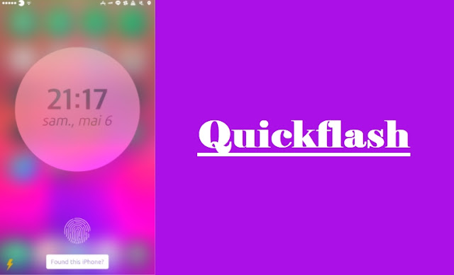 QuickFlash : Quickly toggle the flashlight with one tap from your lock screen