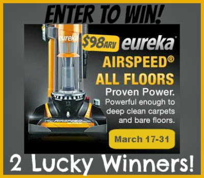 Eureka Vacuum Giveaway - 2 lucky readers {ends 3/31}