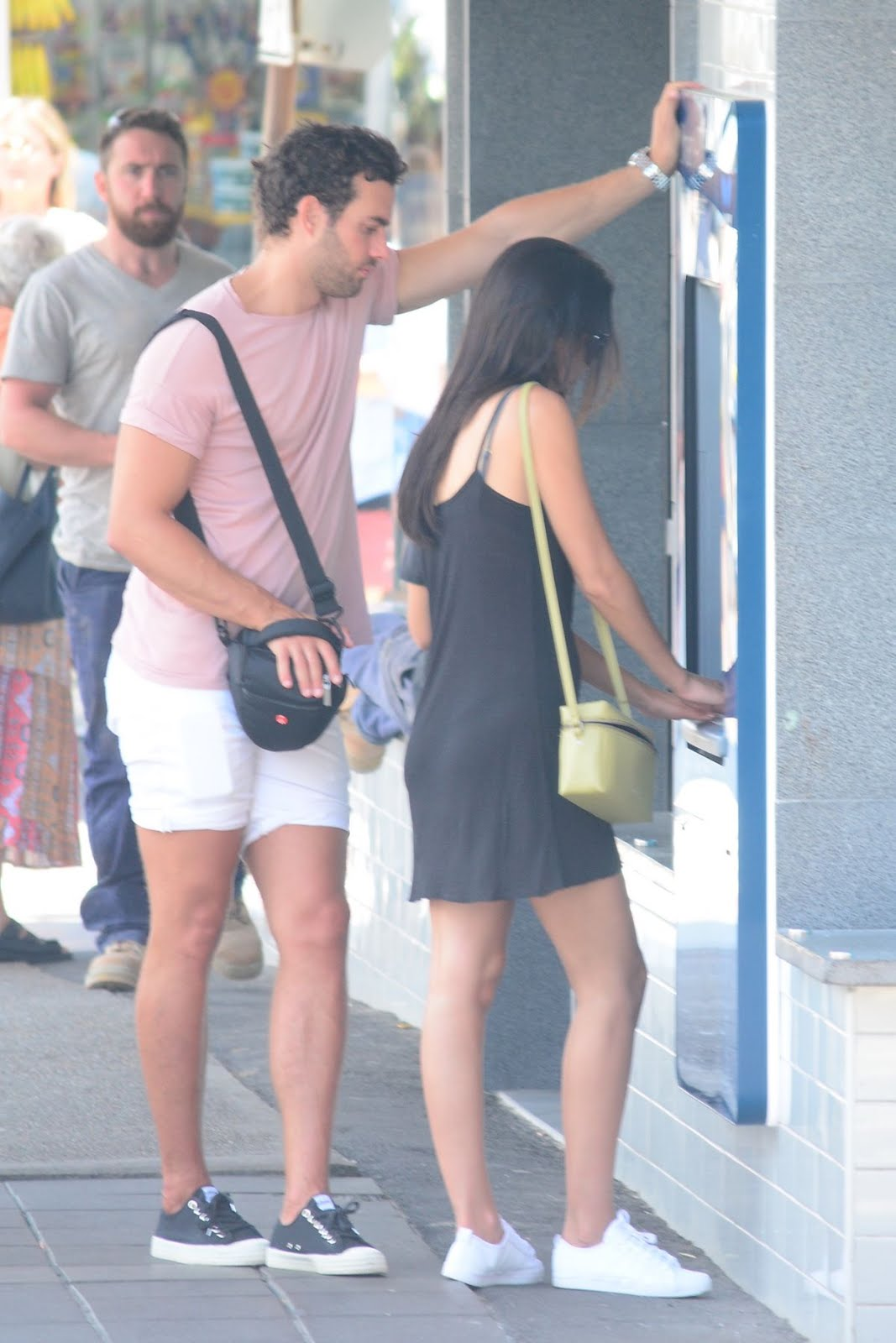 Lucy Watson at Bondi Beach with James Dunmore In Sydney