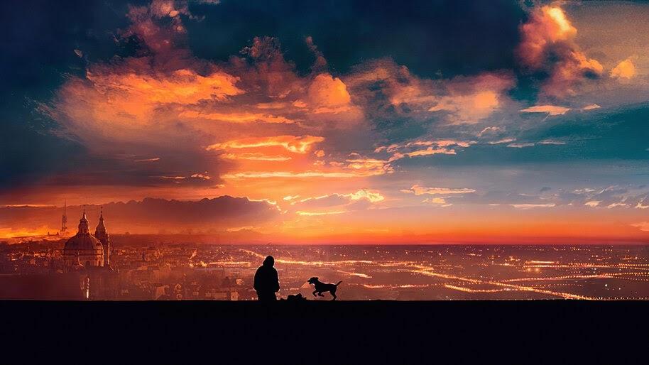 Sunset, Scenery, Silhouette, Digital Art, 4K, #6.1057