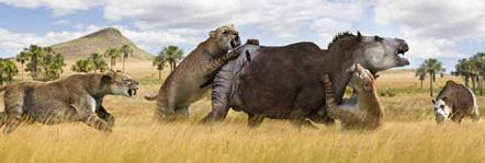 Extinction around the world: Woolly Mammoth and Smilodon