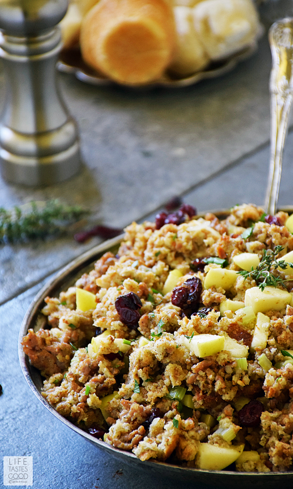 Sausage Apple and Cranberry Stuffing recipe