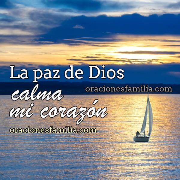 Oración de la noche, paz al dormir, protección de Dios en la noche de descanso con imagen por Mery Bracho