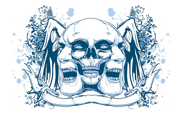 Skull Vector Art Psychedelic Wallpaper