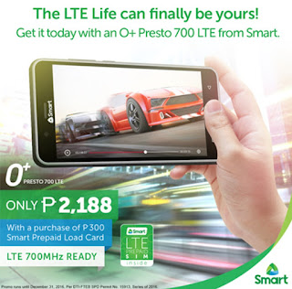 Smart Launches O+ Presto; LTE 700MHz Ready Android Marshmallow For Only Php2,188