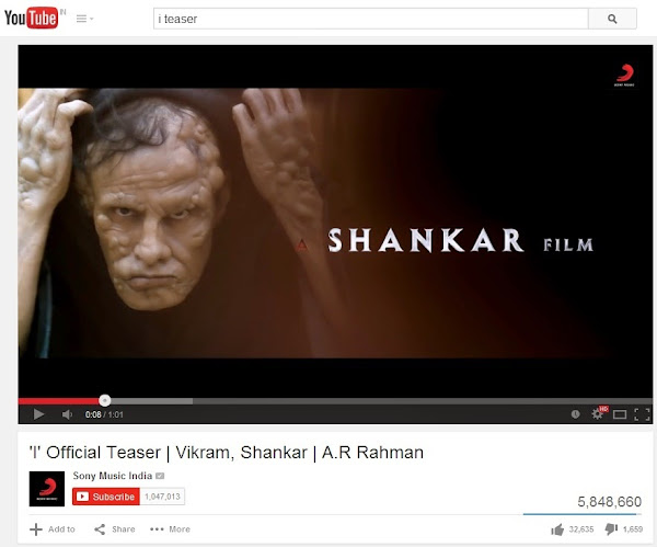 'I' Teaser crosses 5 million views